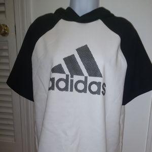 Adidas short sleeved, hi- low hoodie NWT